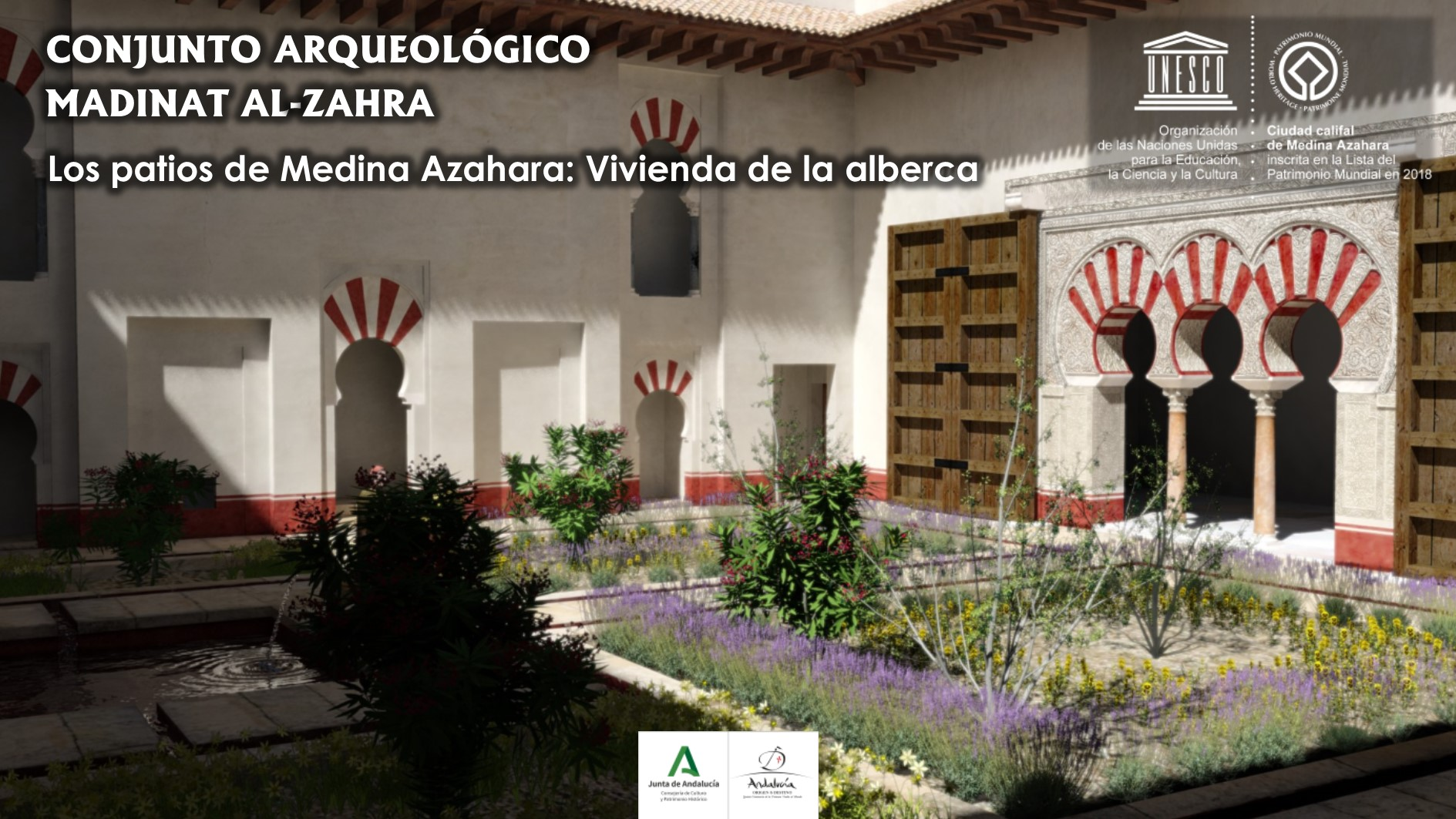 Recreación virtual de la vivienda de la alberca